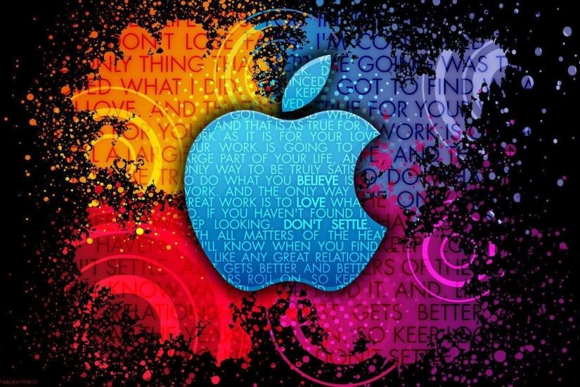 Apple Colorful Creative Logo Computer Wallpaper | Tech Wallpapers