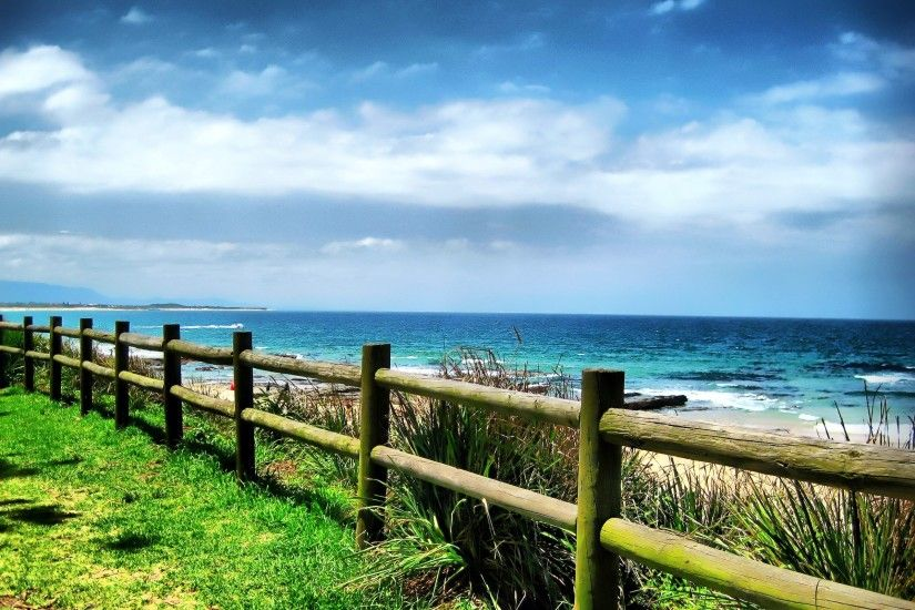 Wooden, Fence, With, Ocean, View, Wallpaper, Hd, Free, 2560×1600 Wallpaper  HD