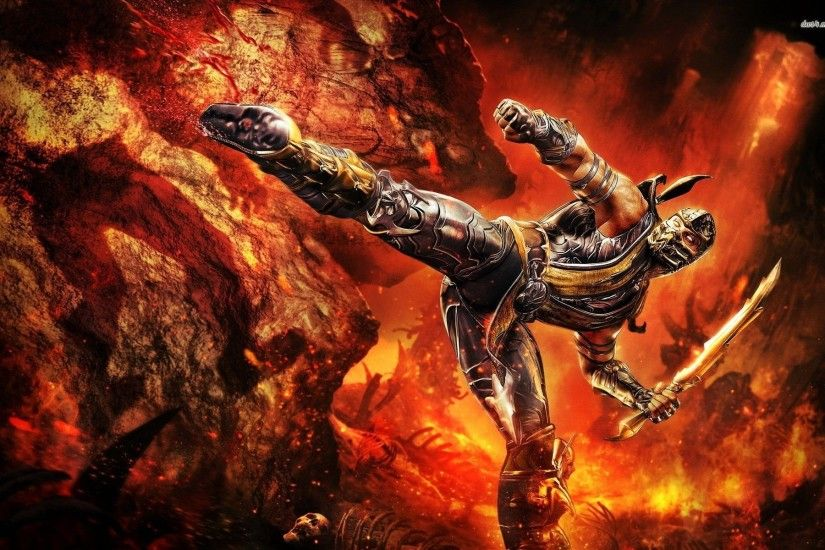 Mortal Kombat Scorpion Wallpapers Wallpaper 1920×1200 Scorpion Wallpaper  (49 Wallpapers) | Adorable