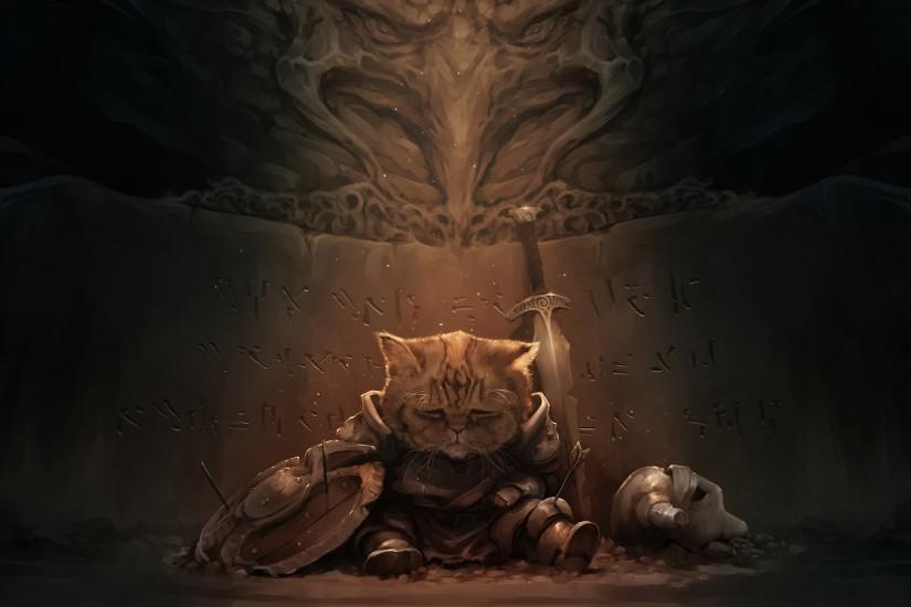 cat, The Elder Scrolls V: Skyrim, Lirik Wallpaper HD