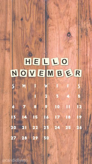 Wood Scrabble rustic November calendar 2016 wallpaper you can download for  free on the blog!