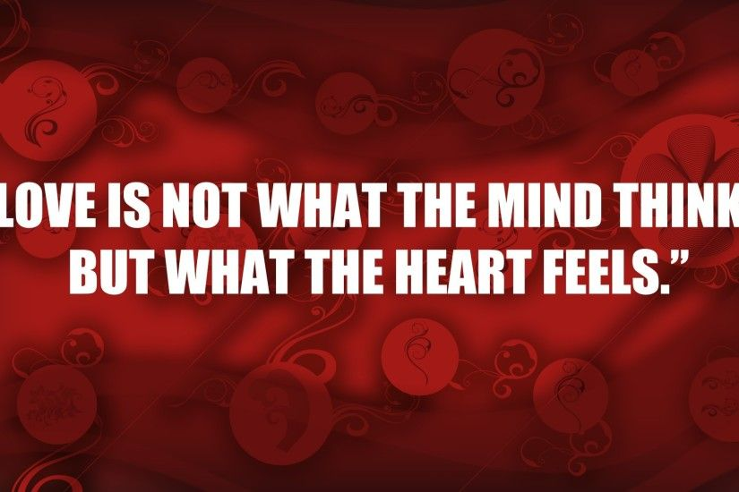 Red quote Hd wallpaper Love you