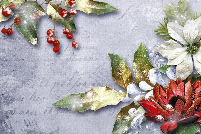 Poinsettia Tag - Winter Firefox Flowers Navidad Poinsettia Feliz Persona  Frost Christmas Snow Berries Nature Leaves