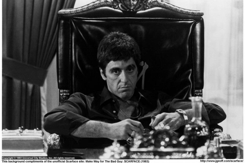 movies scarface grayscale al pacino Wallpaper HD