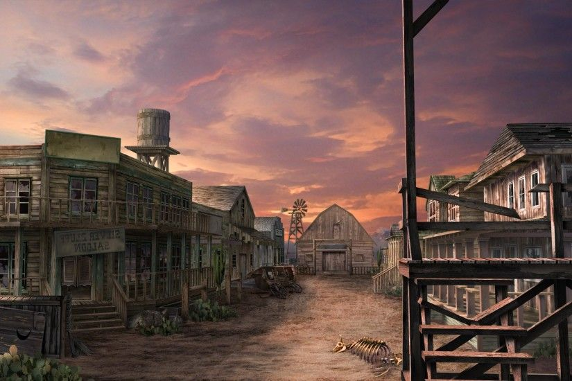 Wild west ghost town sky buildings old - Wallpapers, HD and HQ backgrounds  for your widescreen desktop or mobile device.
