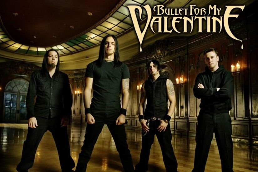 Preview wallpaper bullet for my valentine, band, members, hall, rockers  1920x1080