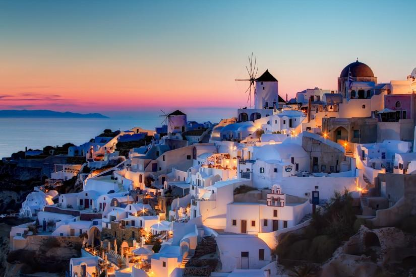 Greece Santorini Notio Aigaio Oia sunset house szeke photography wallpaper