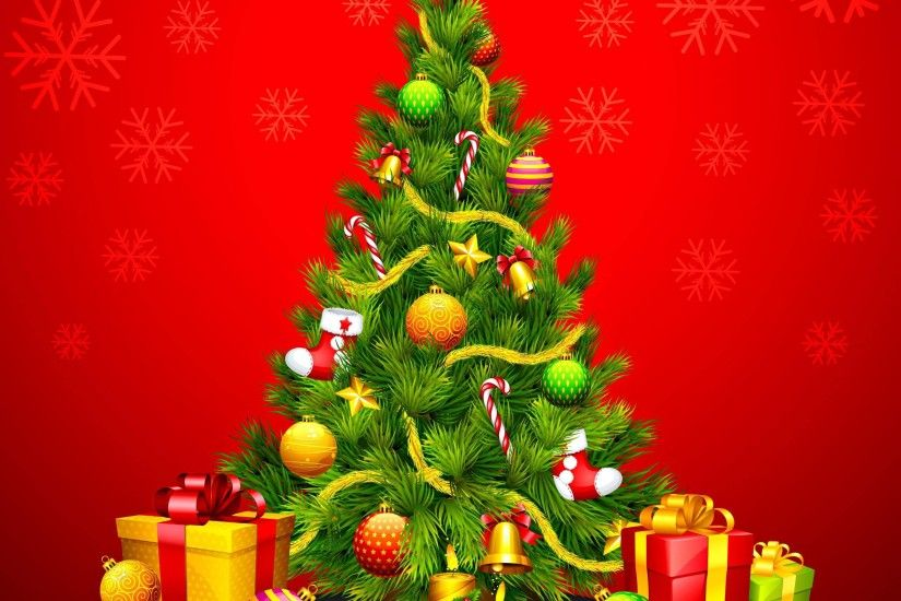 Wallpapers For > Green Christmas Tree Wallpaper