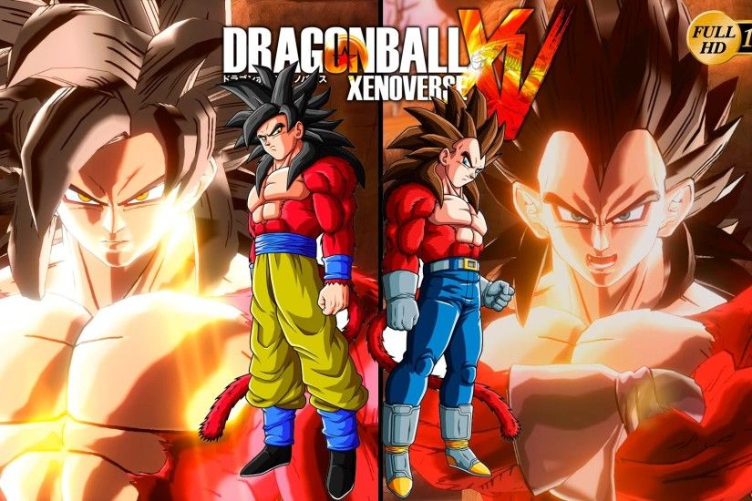 Dragon Ball Xenoverse - Super Saiyan 4 Vegeta ssj4 vs Super Saiyan Goku  ssj4 Dragon Ball GT - YouTube