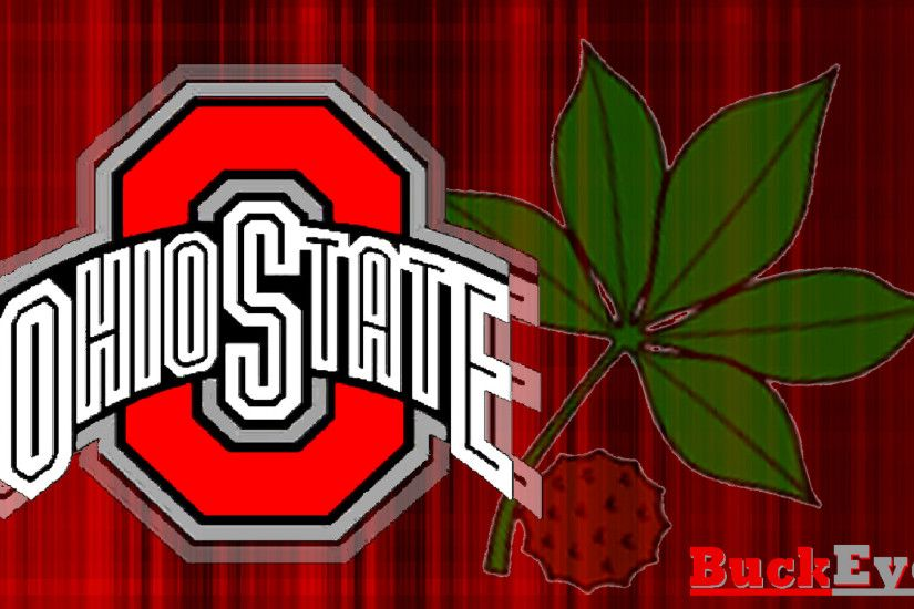 Ohio State Buckeyes images RED BLOCK O WHITE OHIO STATE WITH BUCKEYE LEAF  HD wallpaper and background photos