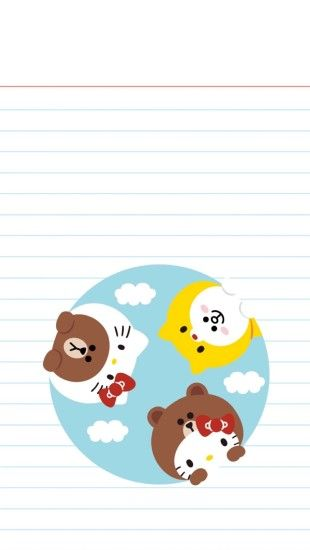 Line Friends, Mobile Wallpaper, Rilakkuma, Sanrio, Iphone 7, Rabbits, Hello  Kitty, Bunnies, Wallpaper For Phone