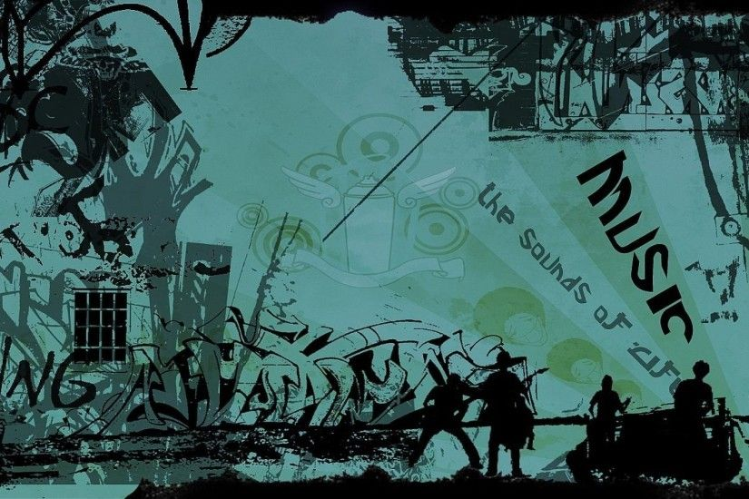 Graffiti Art Music Wallpaper Photo
