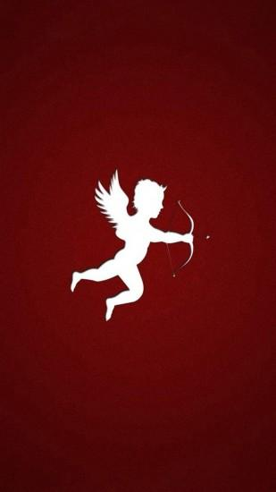 Simple The Arrow Of Cupid Outline Art Background for Android.
