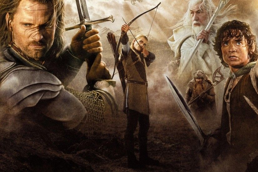gandalf the lord of the rings aragorn gollum gimli legolas samwise gamgee  the return of the
