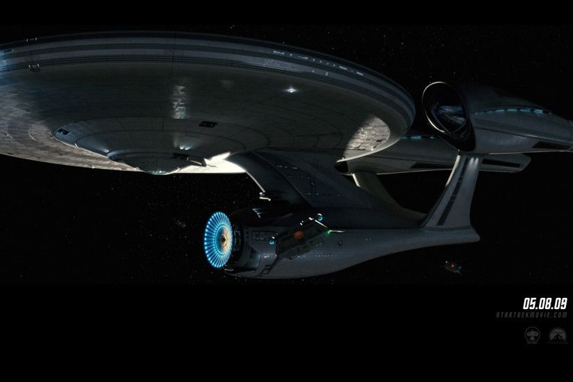 """Star Trek"" desktop wallpaper number 10 - the 2009 movie version of the USS"
