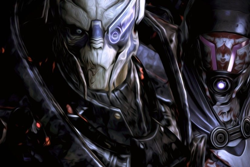 Preview wallpaper mass effect, garrus, tali 3840x2160