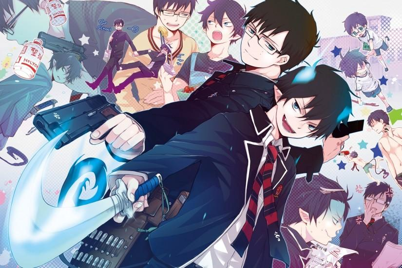 blue exorcist wallpaper 2007x1418 for desktop