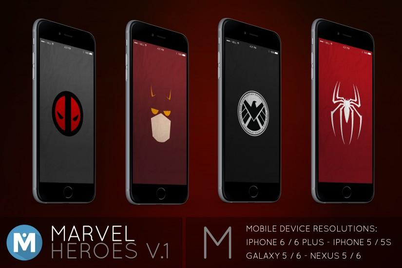 ... MOBILE : Marvel Heroes 1 Wallpaper Pack by polygn