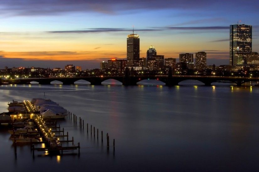 sunset, Cityscape, Boston Wallpapers HD / Desktop and Mobile Backgrounds