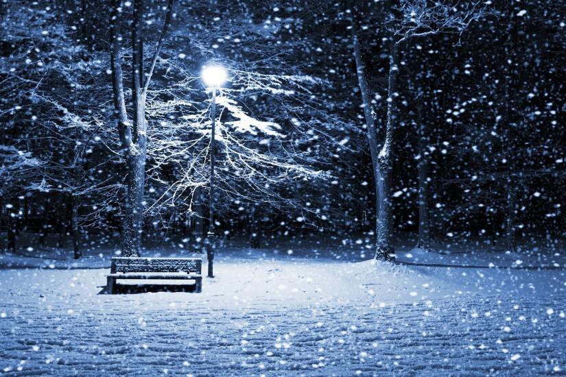 Winter: Winter Evening Warm Snow Light Nature Lantern Wallpaper .