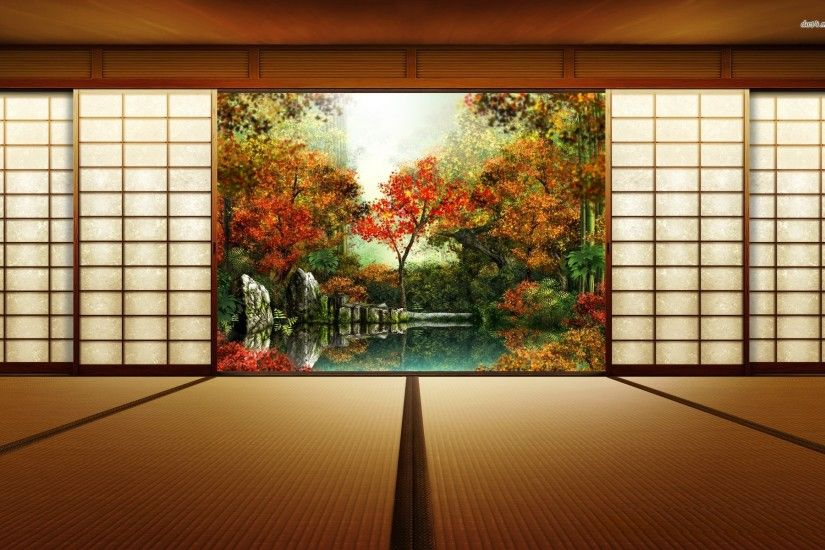 Japanese room wallpaper
