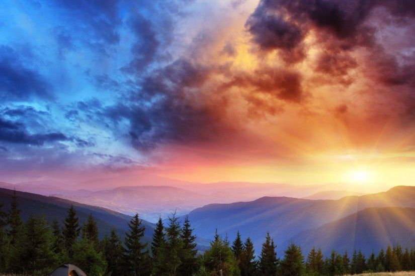 Sunrise Landscape Beautiful Scenery Wallpaper - HD Wallpapers & 4K .