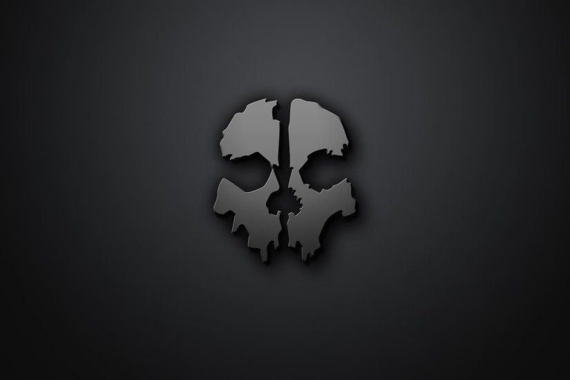 skull, Artwork, Minimalism, Gray Background, Call Of Duty .