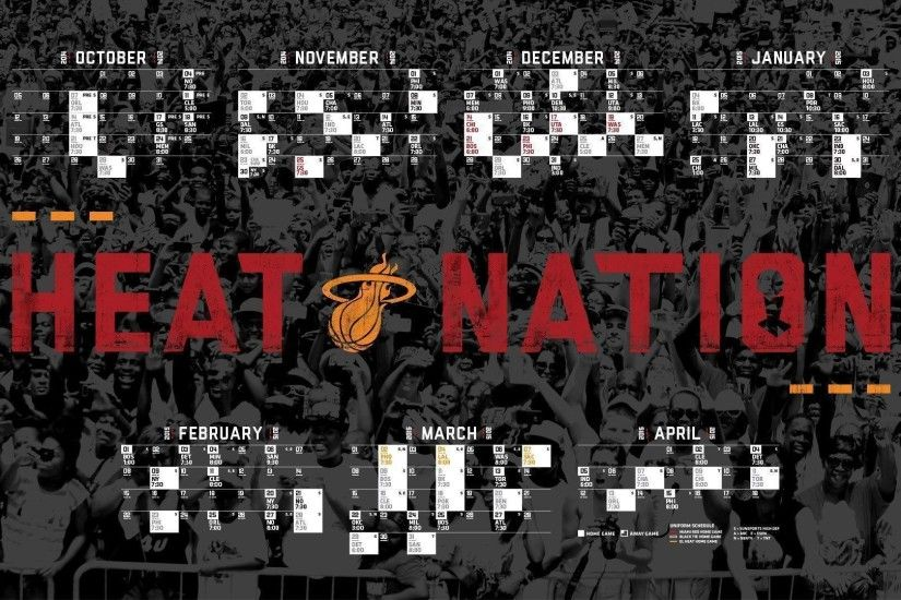 Miami Heat 2014-2015 NBA Schedule Wallpaper Wide or HD | Sports .