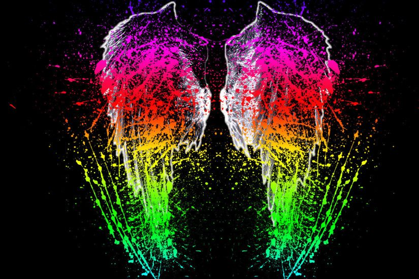 Paint Splash Wings HD Wallpapers
