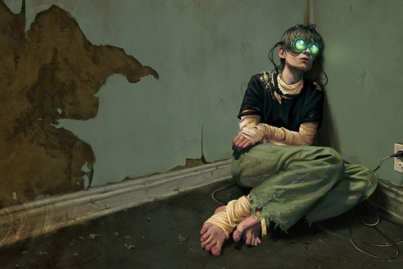 Dystopia Sad Cyberpunk Virtual Reality