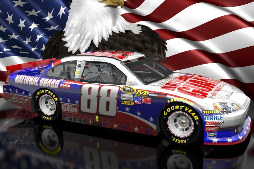 Dale Earnhardt Jr NASCAR Unites Patriotic Wallpaper