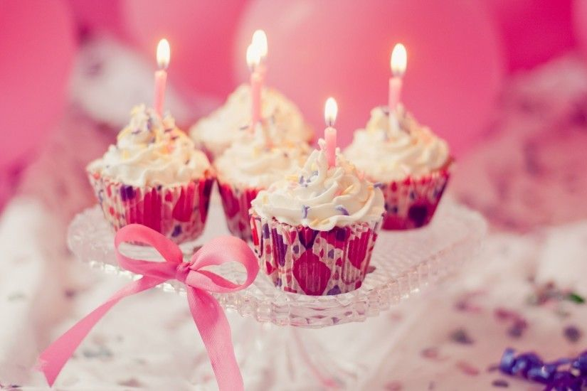 food sweet cake cake cupcakes candles candle pink holiday background cake  wallpaper widescreen full screen widescreen