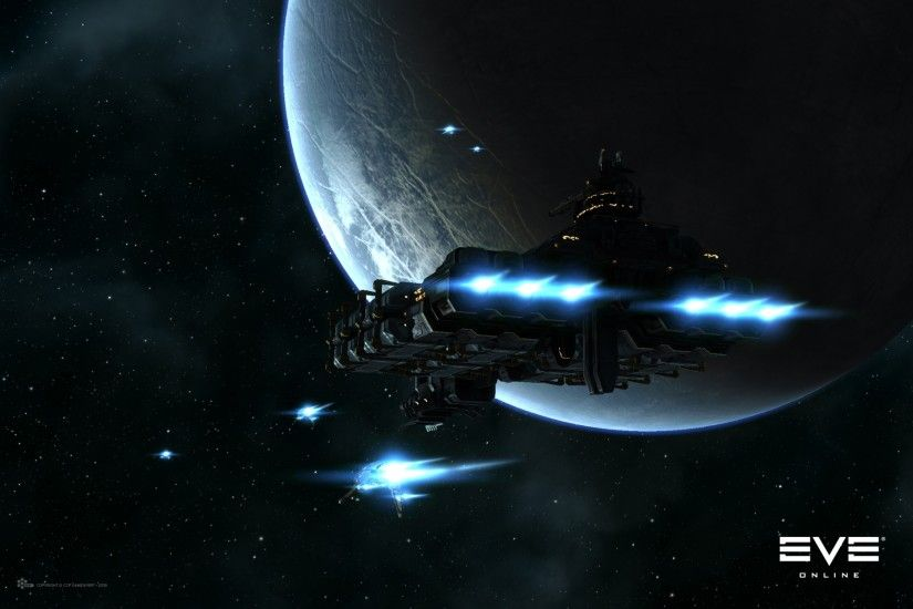 Preview wallpaper eve online, planet, space, spaceship 2560x1600