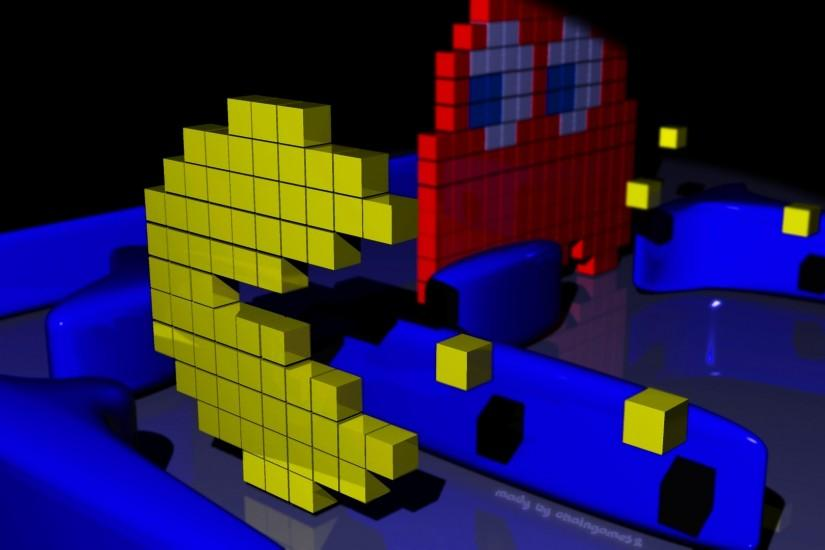 3D Pacman Com puter Wallpapers.