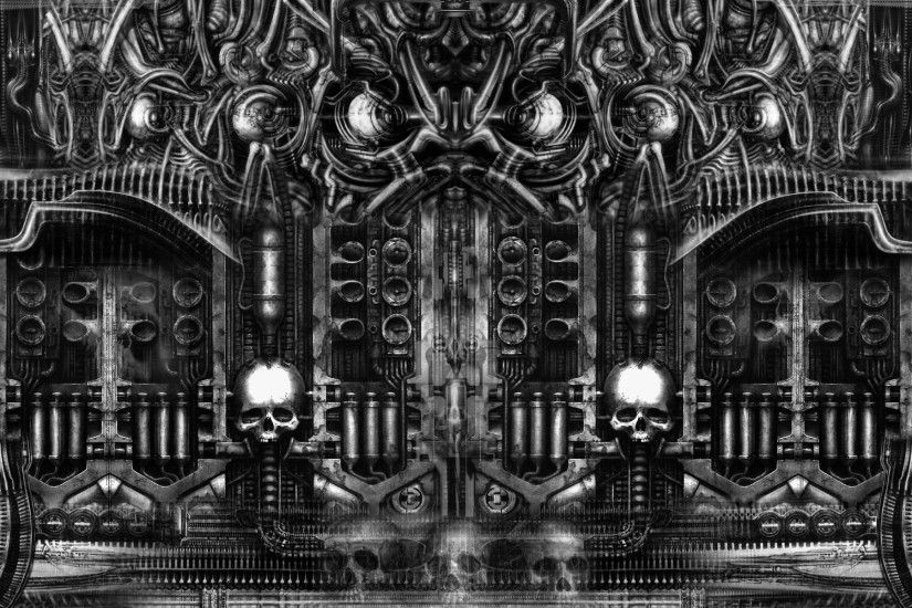 Below is a sample of Giger wallpaper. Even video games are now becoming  darker.