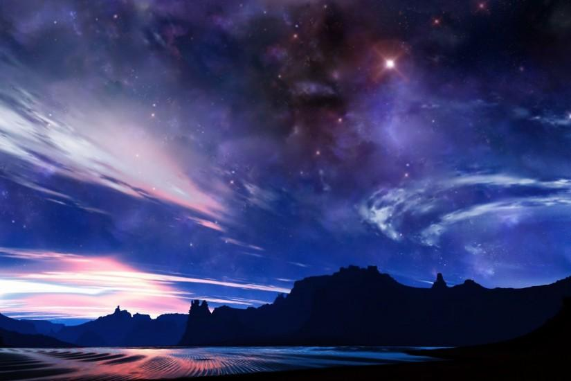 popular night sky wallpaper 1920x1080 tablet