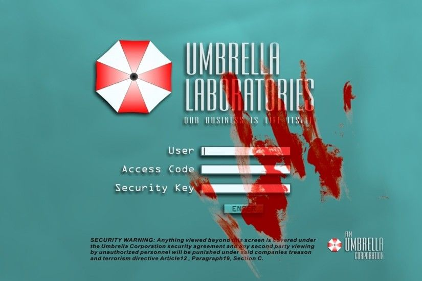 Umbrella Corporation, Resident Evil, Video Games, Blood Wallpapers HD /  Desktop and Mobile Backgrounds