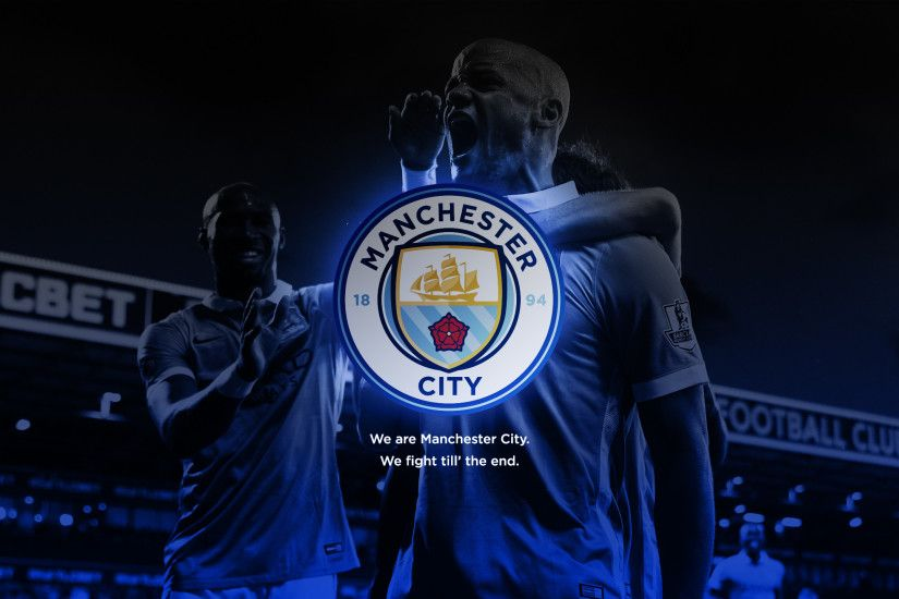 Wallpaper with new City badge feat. Vincent Kompany our captain!