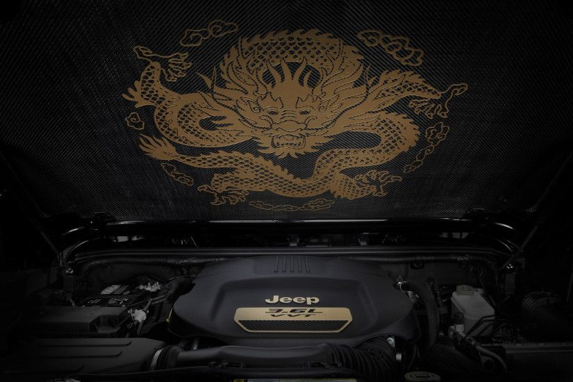2012 Jeep Wrangler Dragon Design Concept - Carbon Fiber Insulator Dragon -  1920x1440 - Wallpaper