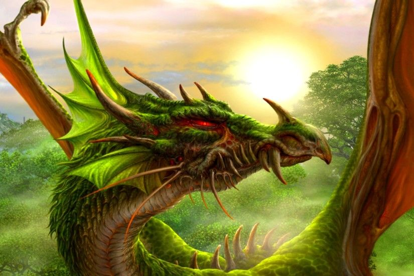 Green Dragon Backgrounds