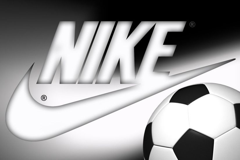 nike soccer ball black white