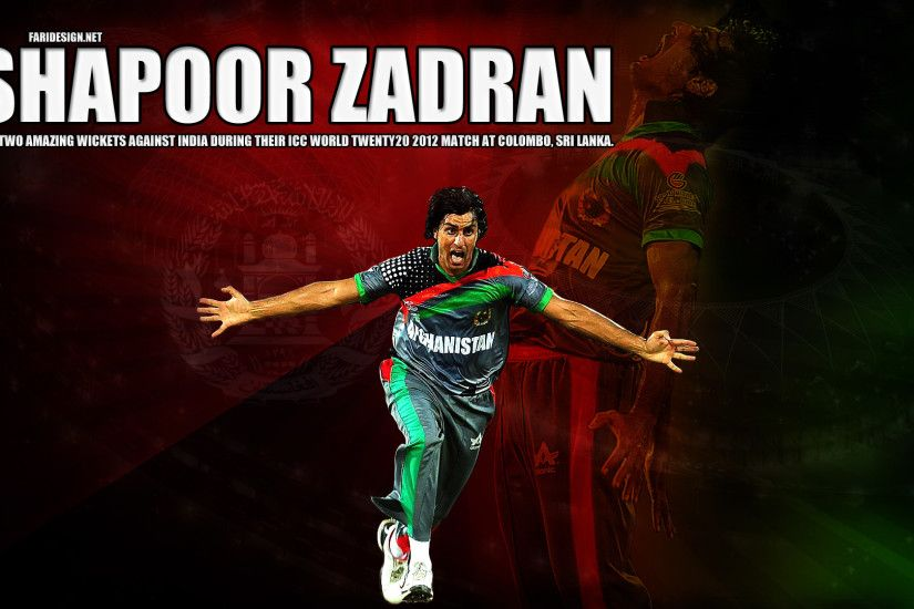 Graphic Design – Shapoor Zadran (Afghan Cricket Player)