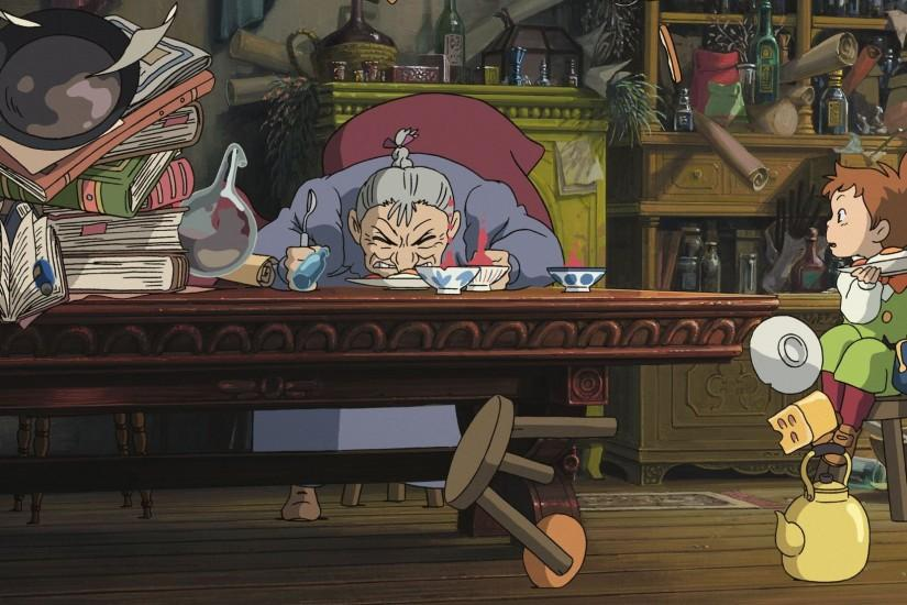 new howls moving castle wallpaper 2048x1108