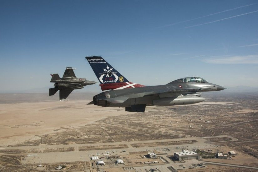 f-35 lightning ii f-16 fighting falcon fighters