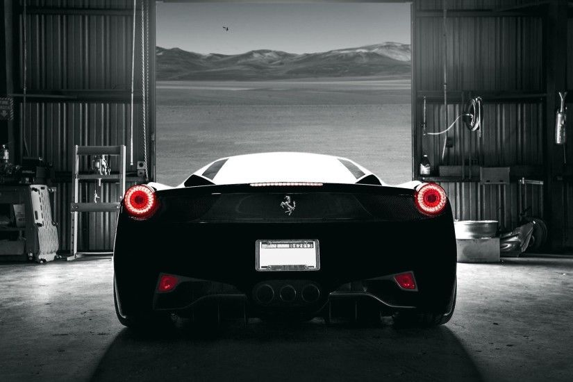 Black Ferrari Wallpaper Photo #fpB