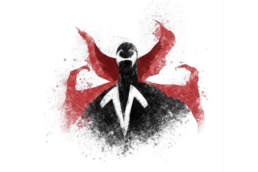 Red and black paint splash Spawn wallpaper