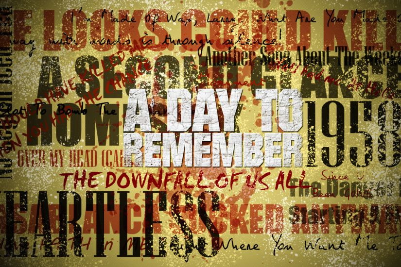... A Day To Remember - Song Wall by SYL4R32
