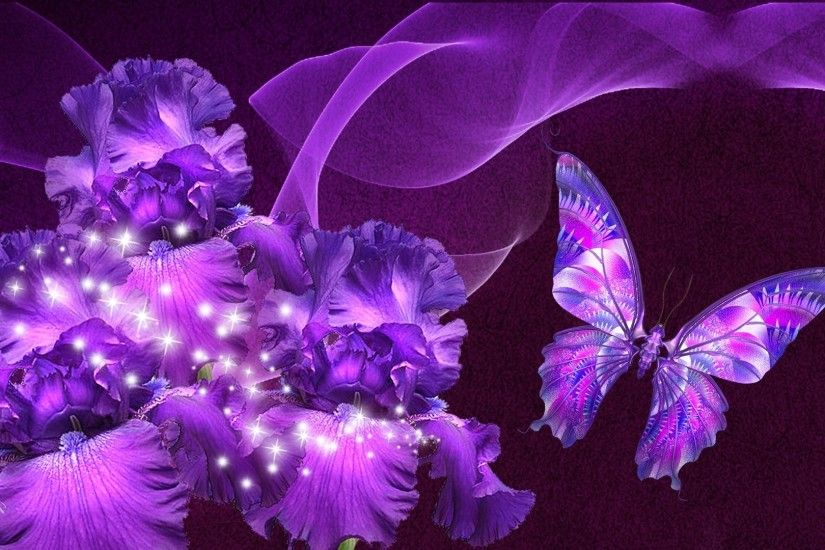 Purple Butterfly Wallpapers Mobile