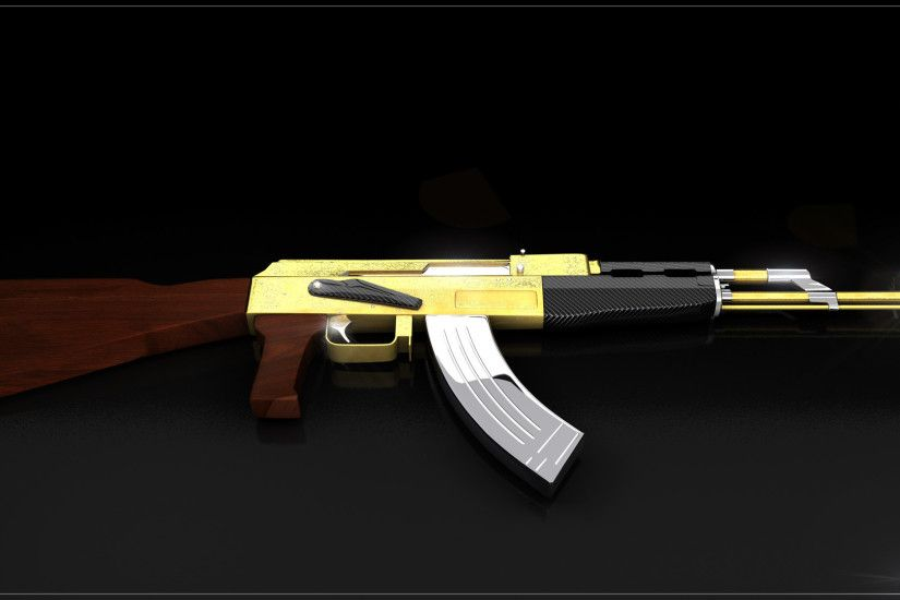 1920x1080 AK47 gold and carbone by iskander71 on DeviantArt Golden Ak 47  Wallpaper