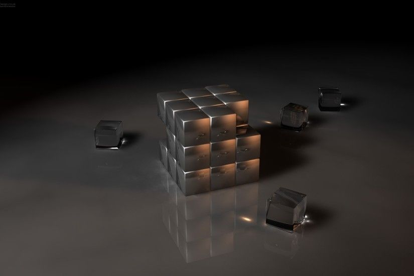 3D Rubik Wallpaper Abstract 3D
